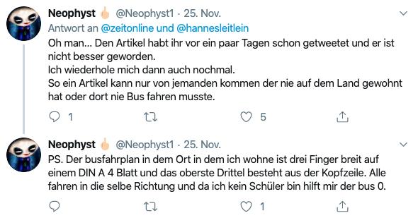 Tweet von Neophyst