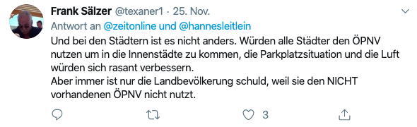 Tweet von Frank Sälzer