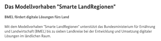Modellvorhaben Smarte LandRegionen