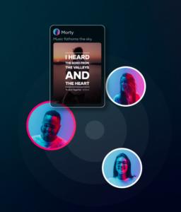 Zeigt einen Screenshot zur Grafik der App Resso