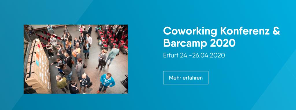 Zeigt Motiv von Coworking Konferenz und Barcamp 2020